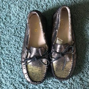 NEW UGG Metallic Moccasin Loafer Size 8